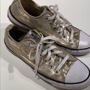 Gold Converse sz9